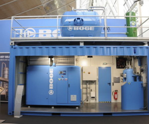 Hannover Messe BOGE Stand Containeranlage